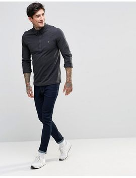 farah-polo-shirt-with-long-sleeves-in-slim-fit-grey by farah
