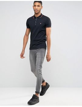 diesel-t-skin-slim-fit-pique-tipped-polo by diesel