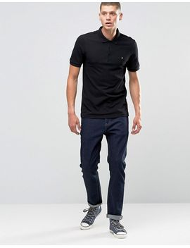 farah-polo-shirt-in-regular-fit-in-black by farah