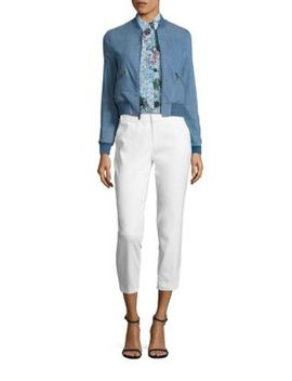 lonnie-cropped-bomber-jacket by alice-+-olivia