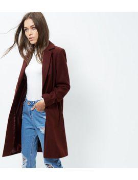 manteau-oversize-bordeaux by new-look