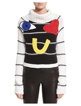 zita-eye-heart-you-turtleneck-sweater by alice-+-olivia