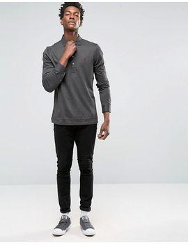 polo-ralph-lauren-custom-fit-jersey-long-sleeved-polo-shirt-in-black by polo-ralph-lauren