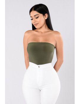 tubular-bodysuit---olive by fashion-nova