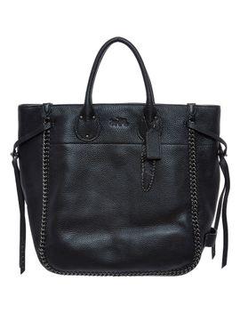black-chain-trim-tote-bag by coach