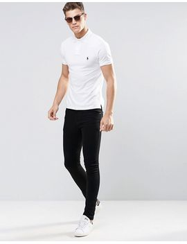 polo-ralph-lauren-slim-fit-polo-with-logo-in-white by polo-ralph-lauren