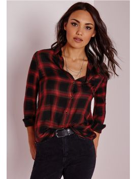soft-touch-checked-shirt-red by missguided