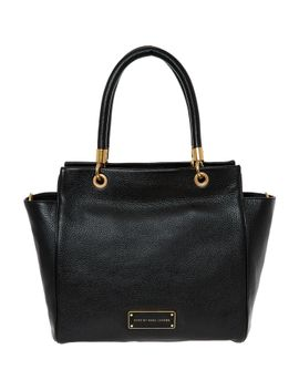 black-leather-tote-bag by marc-by-marc-jacobs