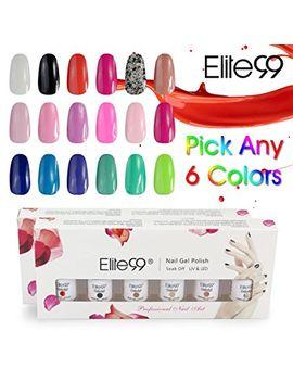 elite99-pick-any-6-colours-soak-off-gel-nail-polish-top-base-coat-6pcs-manicure-gift-set by elite99®