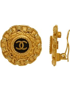 gold-tone-vintage-logo-earrings by chanel