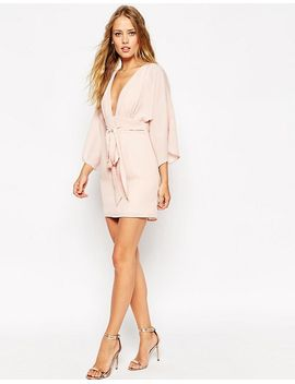 asos-70s-belted-mini-dress by asos-collection