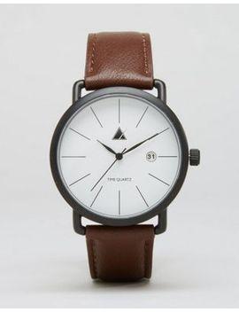 asos-minimal-watch-in-brown by asos