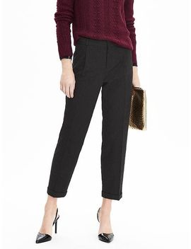 avery-fit-jacquard-pleated-pant by banana-repbulic