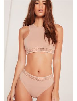 racer-neck-bra-with-sporty-hem-nude-with-nude-trim by missguided
