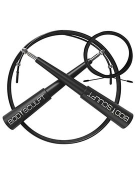 skipping-rope-with-extra-cable,-stainless-steel-ball-bearings,-lifetime-warranty,-free-ebook-with-50+-workouts,-professional-quality,-adjustable-high-speed-jump-rope by bodysculpt