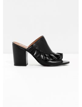frilled-leather-mules by &-other-stories