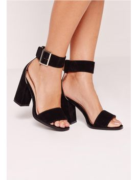 flared-block-heel-sandal-black by missguided