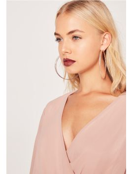 twisted-hoop-earrings-rose-gold by missguided