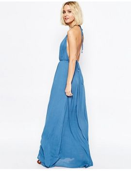 paisie-volume-maxi-dress-with-halterneck-and-low-back by paisie