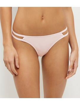 pink-strappy-side-thong by new-look