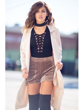 lexie-velvet-shorts by agaci