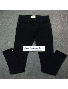 best-version-2016-fear-of-god-fog-zippers-skinny-slim-fit-mens-distressed-justin-bieber-black-cotton-denim-jeans by ali-express