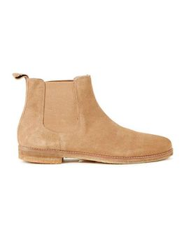 tan-suede-chelsea-boots by topman