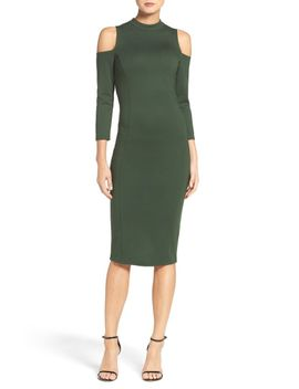 kenly-cold-shoulder-midi-dress by felicity-&-coco