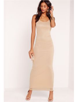 mesh-overlay-maxi-dress-nude by missguided