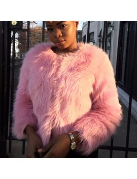 2016-new-faux-fur-coat-pink-black-blue-fur-outerwear-lady-winter-long-sleeve-fur-jacket--big-yards-coat by ali-express