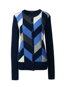 womens-supima-intarsia-cardigan-sweater by lands-end