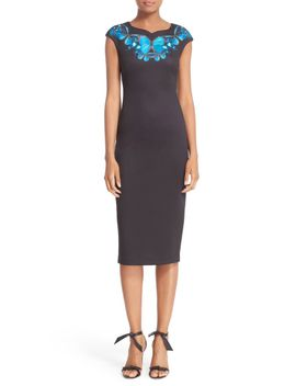 ashley---butterfly-necklace-sheath-dress by ted-baker-london