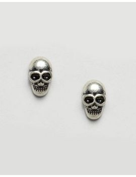 asos-skull-stud-earrings by asos-collection