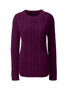 womens-cable-shaker-sweater by lands-end