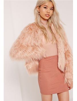 ribbed-mini-skirt-pink by missguided
