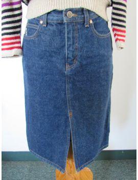 vintage-denim-skirt---knee-length-pencil-skirt-sz-6 by whoavintage