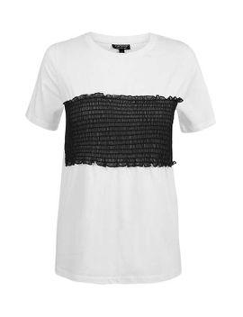 mesh-sheering-t-shirt by topshop
