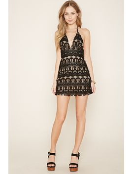 ornate-lace-halter-dress by forever-21