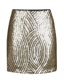 tall-psych-sequin-swirl-mini-skirt by topshop