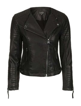 nelly-quilted-faux-leather-biker by topshop