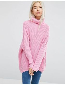 weekday-turtleneck-fluffy-knit-sweater by weekday