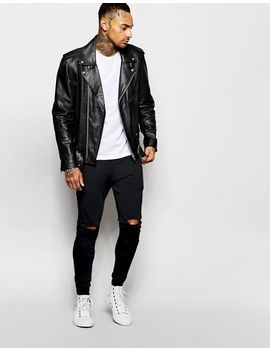 asos-super-skinny-joggers-with-knee-rips by asos