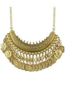 antique-gold-tibetan-design-hanging-coins-statement-wedding-necklace-for-women by sheinside