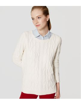 cable-tunic-sweater by loft