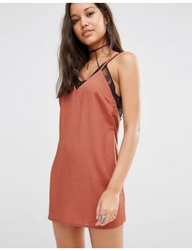 missguided-satin-lace-trim-cami-dress by missguided