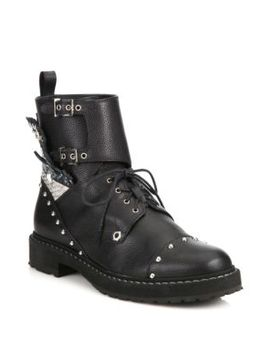 rockerchic-studded-leather-combat-booties by fendi