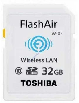 toshiba-sdhc-flashair-c10-wifi-32gb-wireless-memory-card-sd-hc-sd-r032gr7al01-a by toshiba