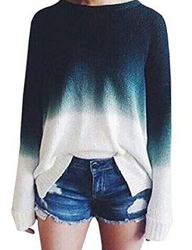 baifern-womens-gradient-long-sleeve-pullover-sweaters-for-women by baifern