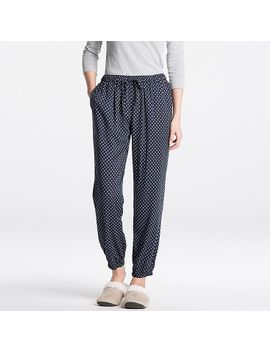 women-drape-pants-(flower-dot) by uniqlo