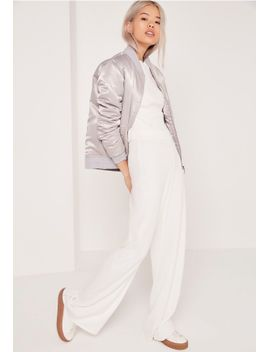 bandage-wide-leg-pants-white by missguided